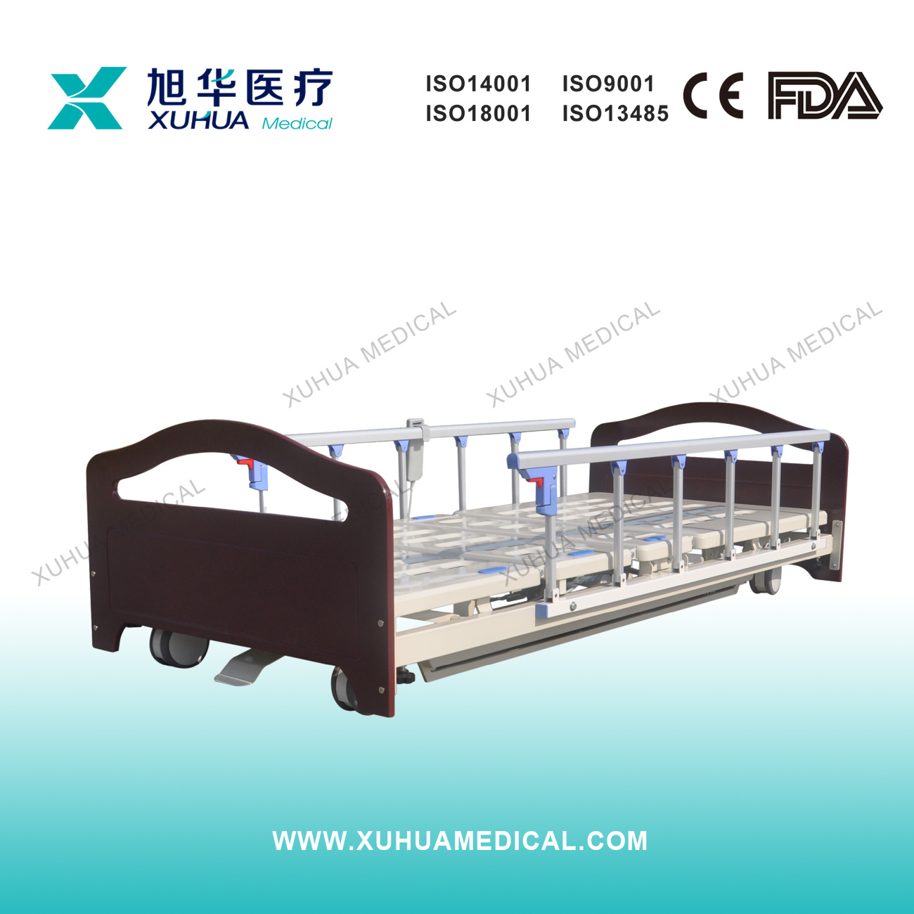 Wooden Super-Low Electric Homecare Bed