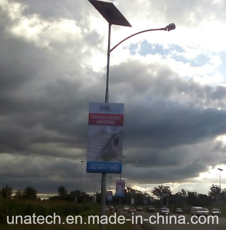 Solar Outdoor Street Road Lamp Pole Ads LED Banner Flex Promotion Light Box