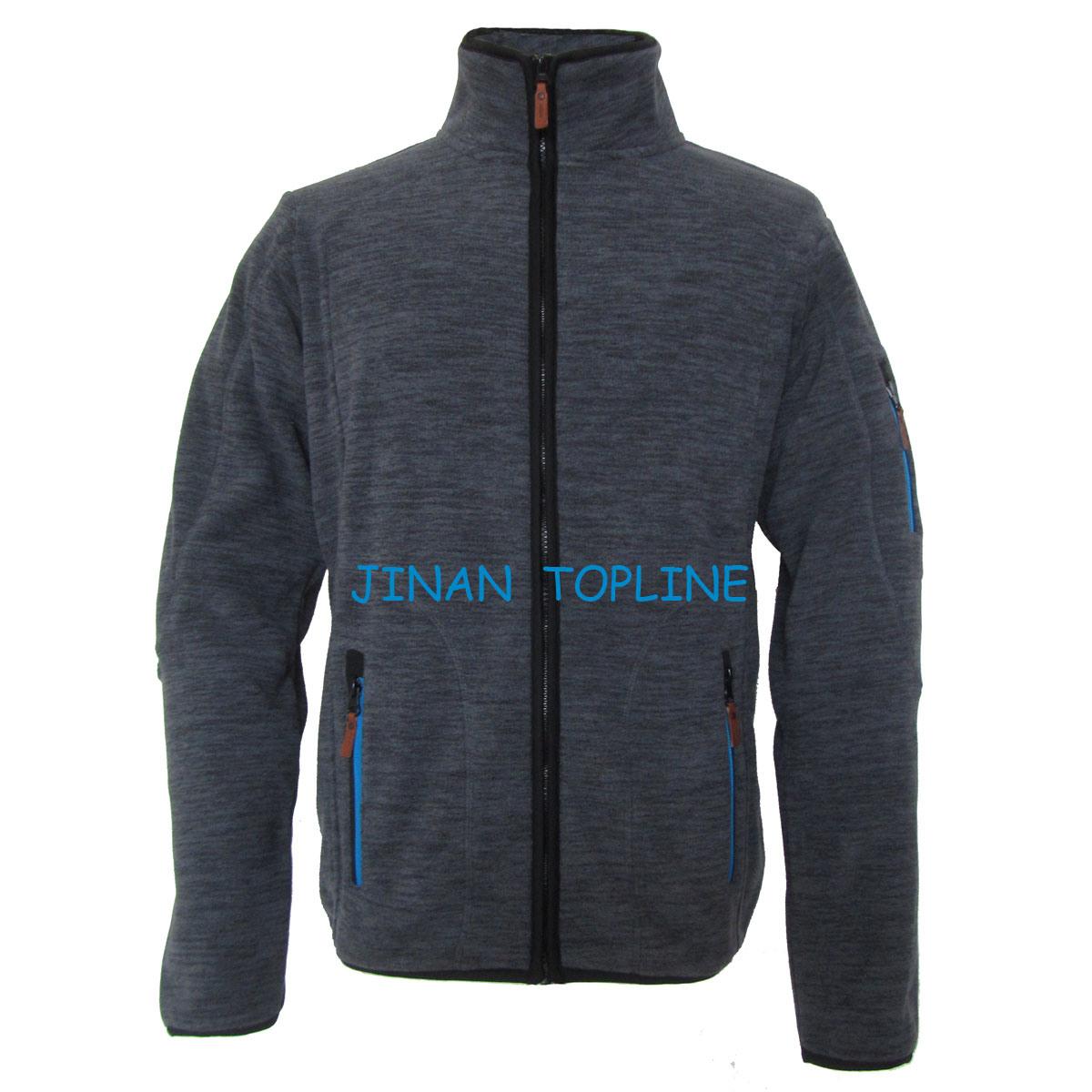 Men Cationic Dyed Polar Fleece Windproof Leisure Jacket Sports Wear