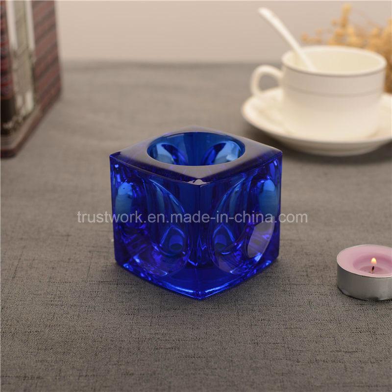 Natural Color Crystal Glass Candle Holder
