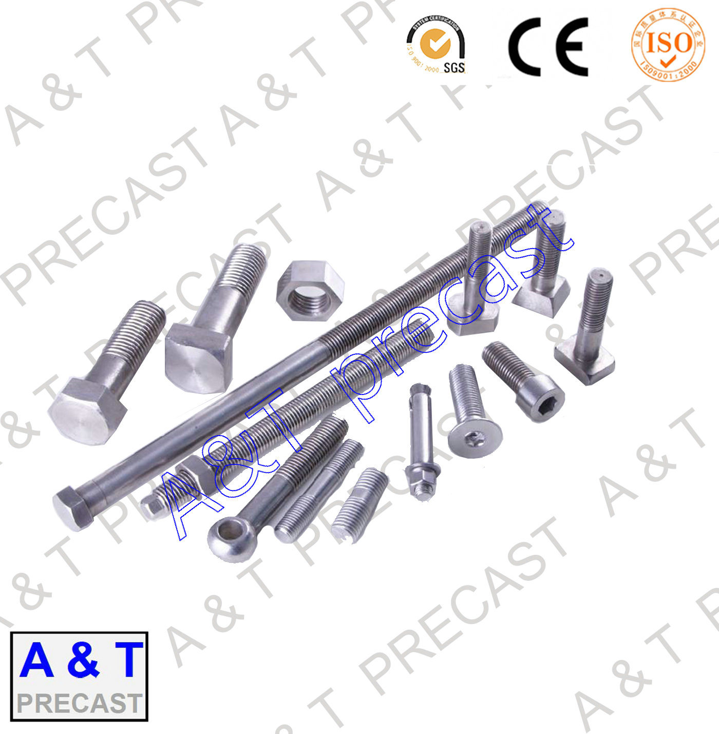 Stainless Steel/Square/ T Head Bolt Parts with High Quality