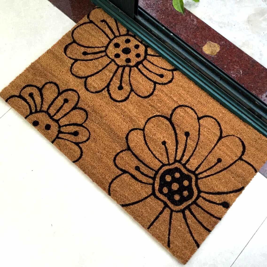 Natural Gold Brown Coconut Coco Coir Fiber Koko Welcome Entrance Outdoor Floor Door Mats