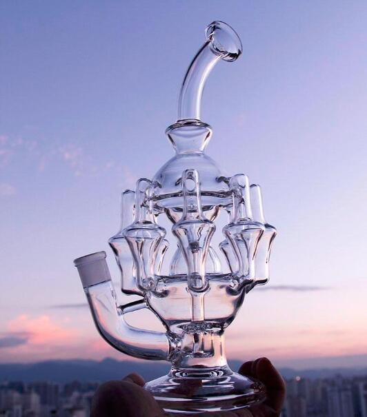Holesale Price Beautiful Glass Smoking Water Pipe with Water Recycler