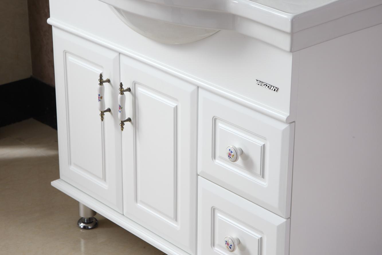 Sanitary Ware Modern Style Oak Wood Bathroom Vanity/Cabinet