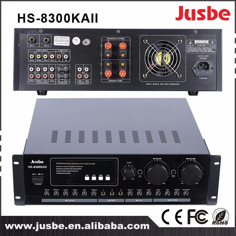 Jusbe HS-8300kaii 320W/8ohm 450W/4ohm 4 Channel Multimedia Professional Aduio Househld HiFi Amplifier