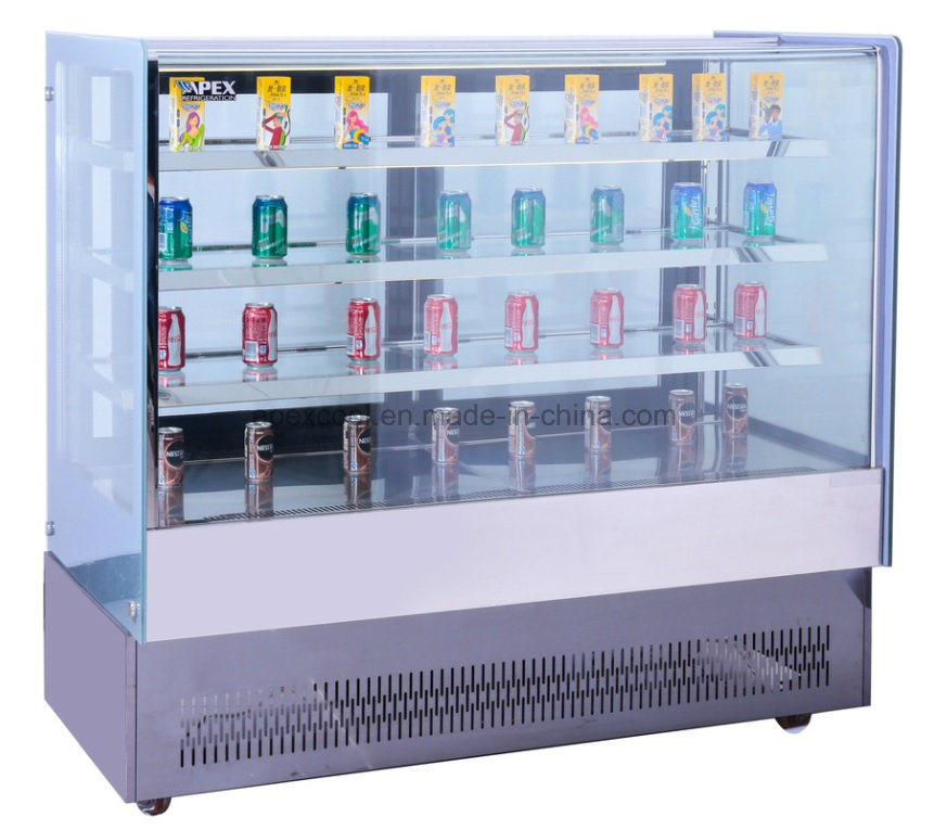 European Style Cake Bakery Display Refrigerated Showcase Cooler