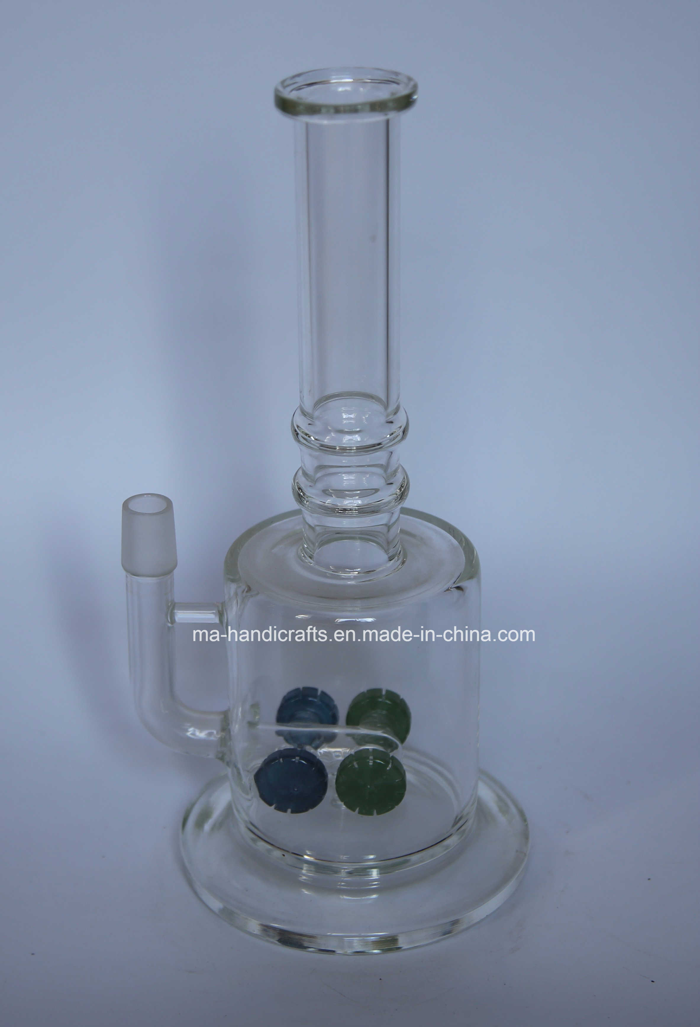 "12"" Boro Glass Water Pipes with Four Matix Perc"