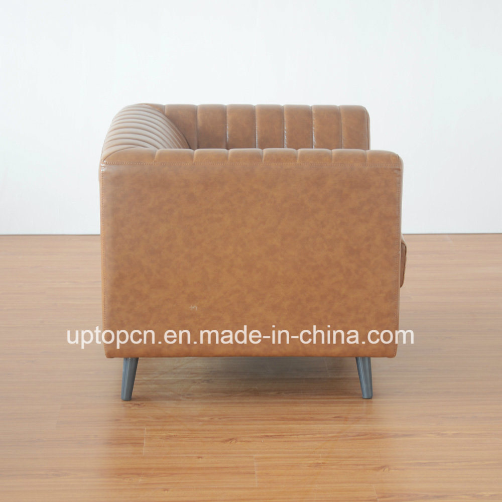 (SP-HC584) Customized China Loose Furniture Single Sofa Leather Hotel