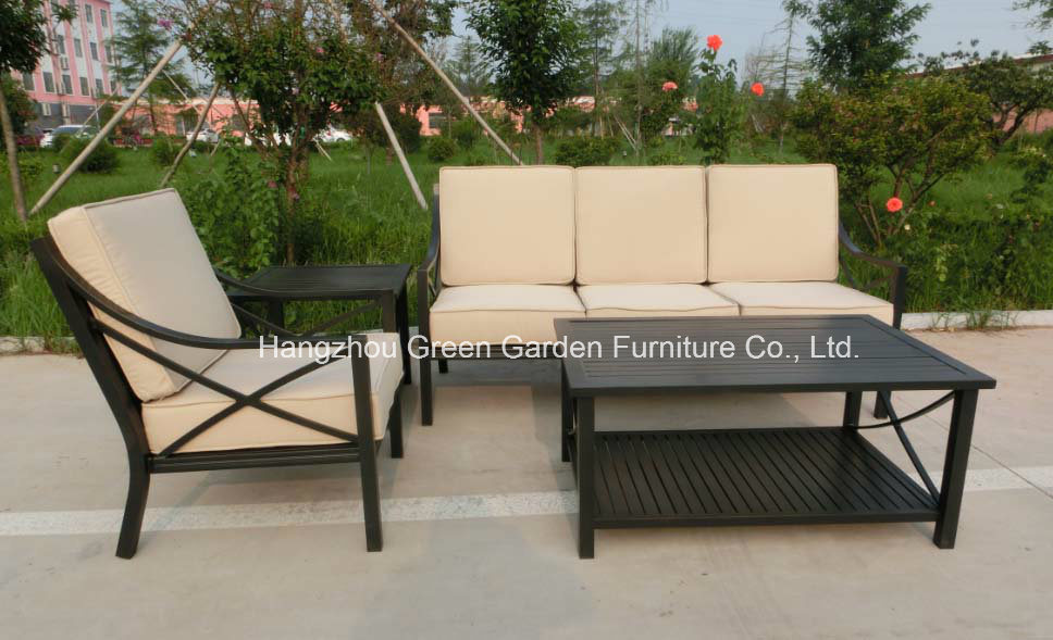 Gardrn Furniture Hand Paint Sofa Set with Rattan Weave Chair