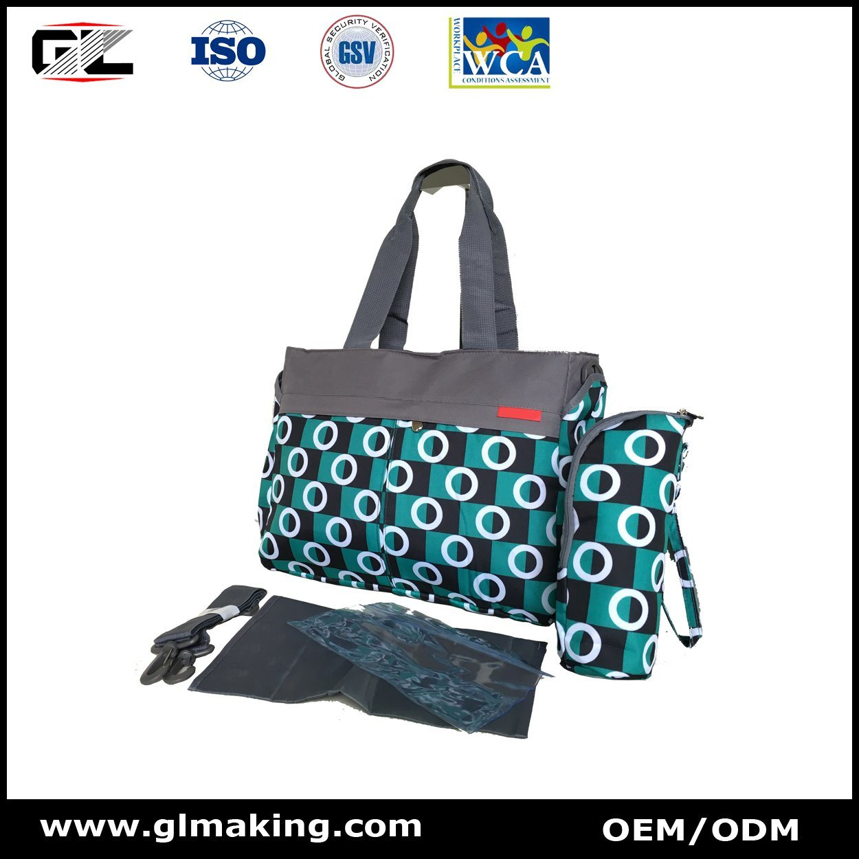 Single Shoulder Diaper Bag From OEM Mannfacturer