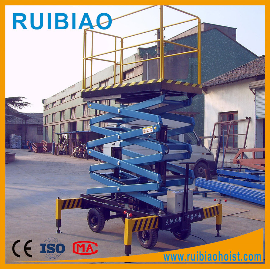 11 Meter High Raise Aerial Hydraulic Mobile Scissor Lift