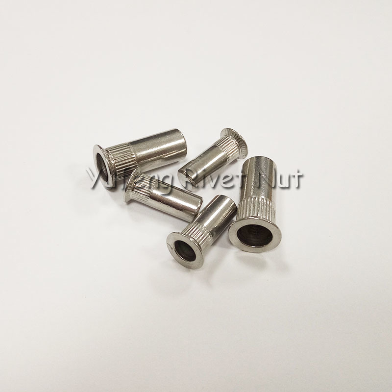 Stainless Steel Closed End Rivet Nut with Countersunk Head Knurled Body