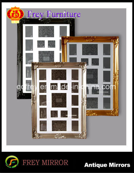 Wooden Wall Mirror/Picture Frame with Antique Design