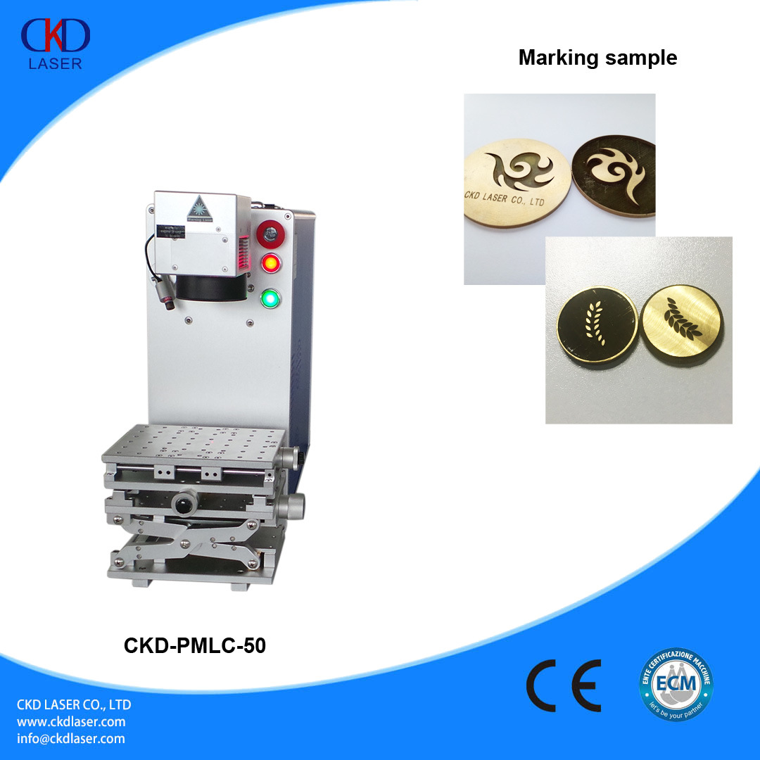 50W Q Switched Fiber Laser Etching Machine for Engraving Metal