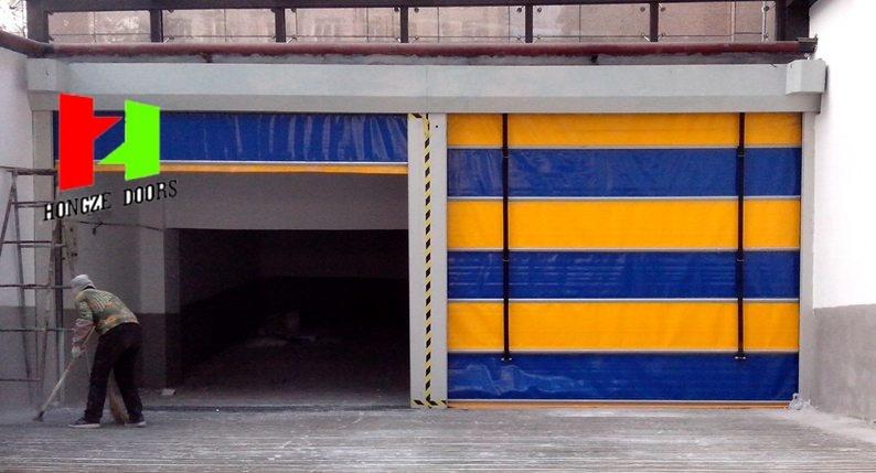 High Speed PVC Roller Shutter Doors /Rapid Stacking Doors with Wind-Resistant (Hz-021)