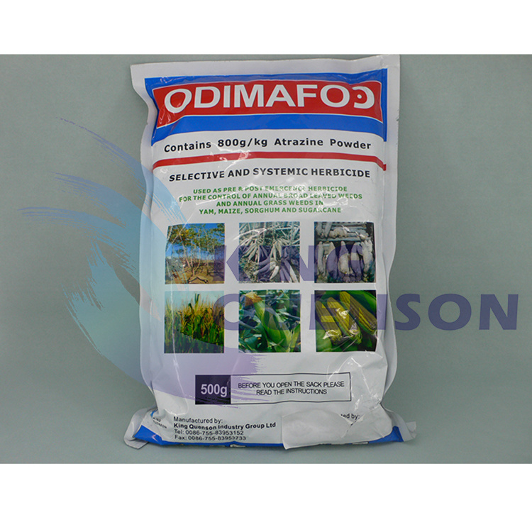 King Quenson Systemic Herbicide Agrochemical 98% Tc Atrazine 80% Wp