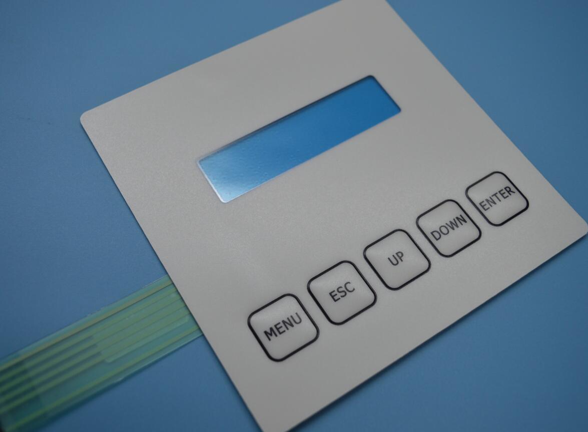 Industrial Control Keypad Electrical Membrane Switch with Display Window