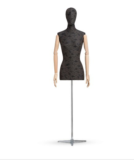 Half Body Fabric Wrapped Mannequin for Windows Dress