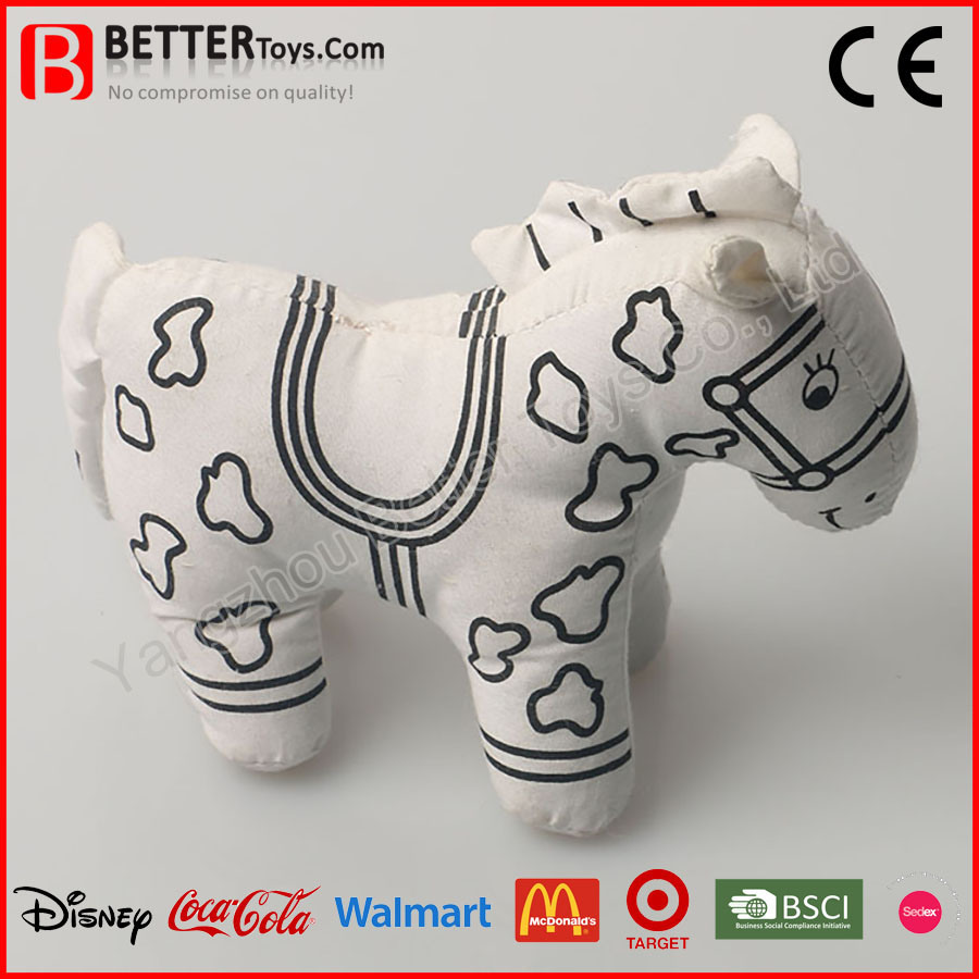 Stuffed Animal Horse Toy for Kids Drawing
