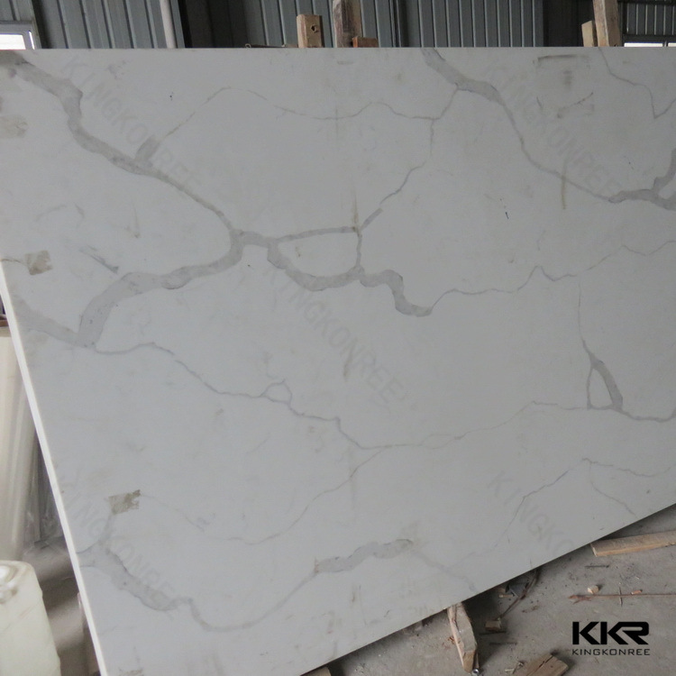 Big Slab Caesarstone White Marble Like Artificial Quartz Stone Slab