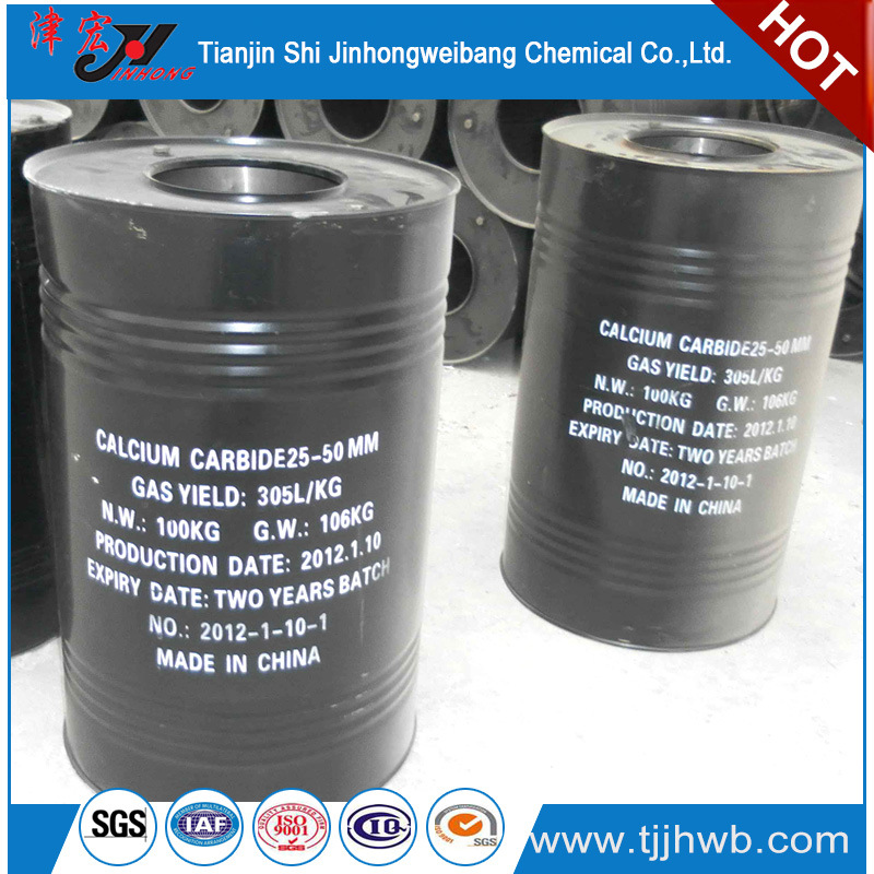 295 Gas Yield 50-80mm Calcium Carbide