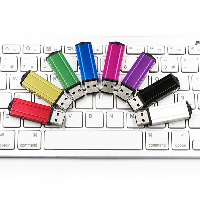 Aluminum Metal USB Flash Drive with Laser Silkcreen Logo