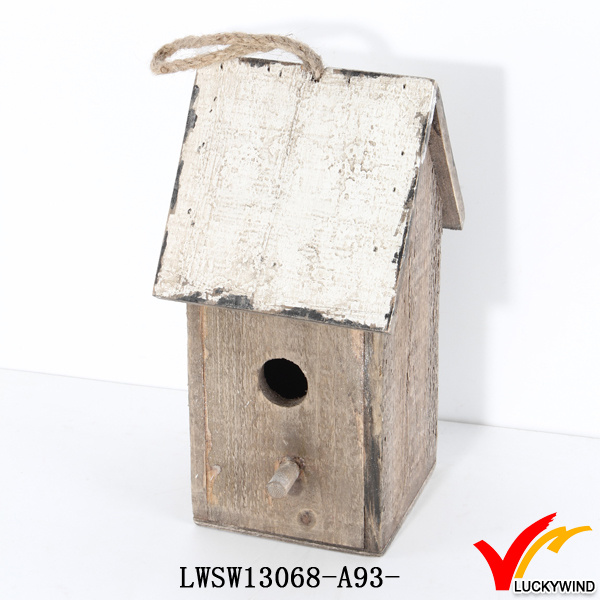 Luckywind Shabby Chic High Quality Solid Wooden Birdhouse