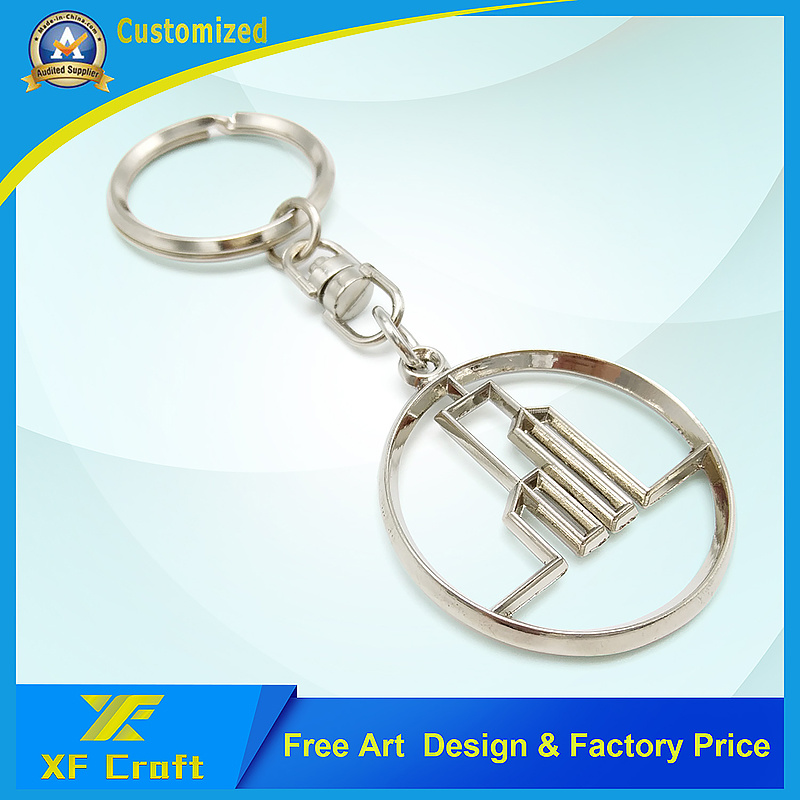 Manufacturer Custom Metal Enamel Key Chain /Promotion Key Ring Holder with Any Logo (XF-KC09)