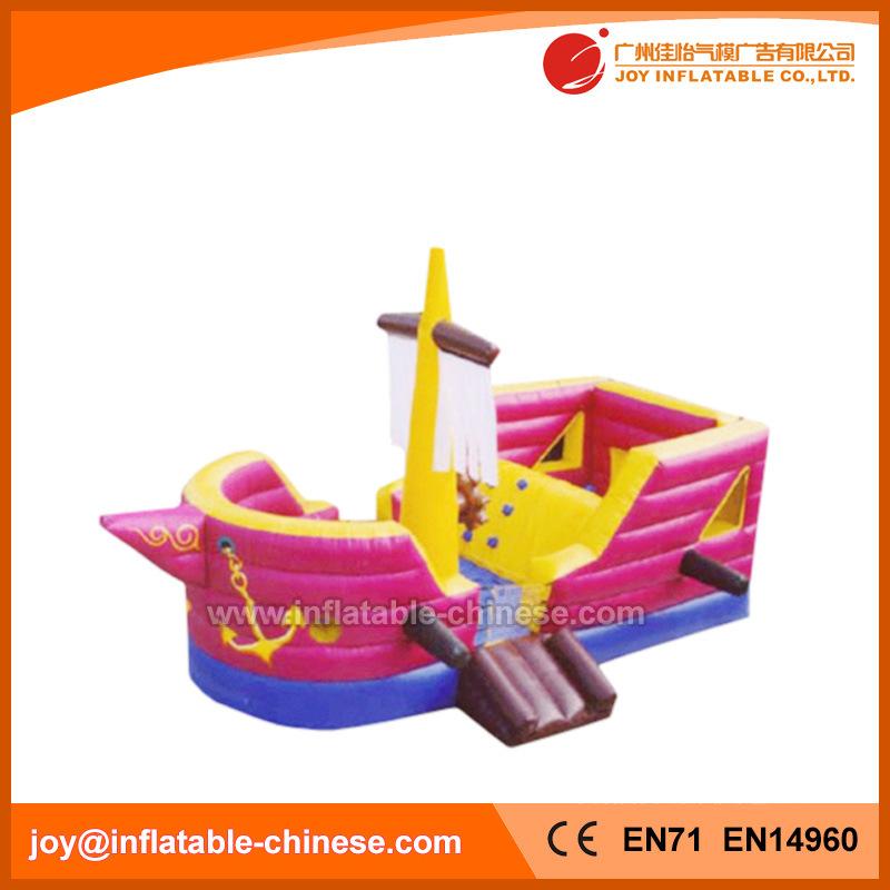 Pink Inflatable Jumping Ship Princess Jumping Boat Bouncer (T6-608)
