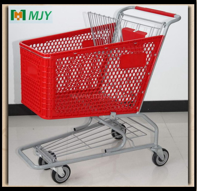 125 Liters Plastic Shopping Trolley Cart Mjy-125cp