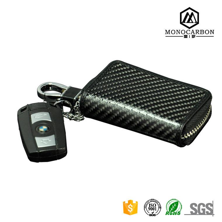 2017 Newest Arrival Genuine Carbon Fiber Car Key Bag in Shenzhen Manufacture Car Key Bags