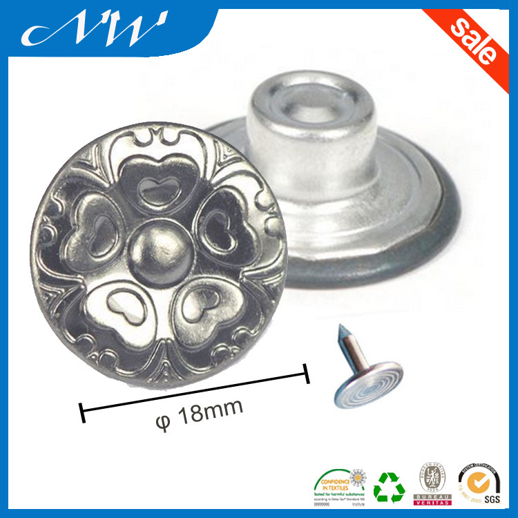 Factory Price Metal Shank Button for Jeans Wear