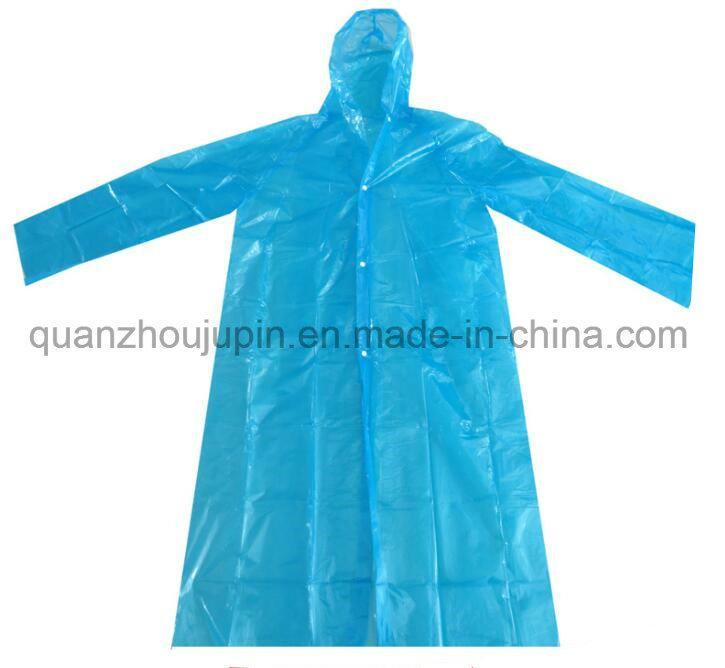 OEM Logo Pocket Unisex Foldable PE Disposable Raincoat for Promotion