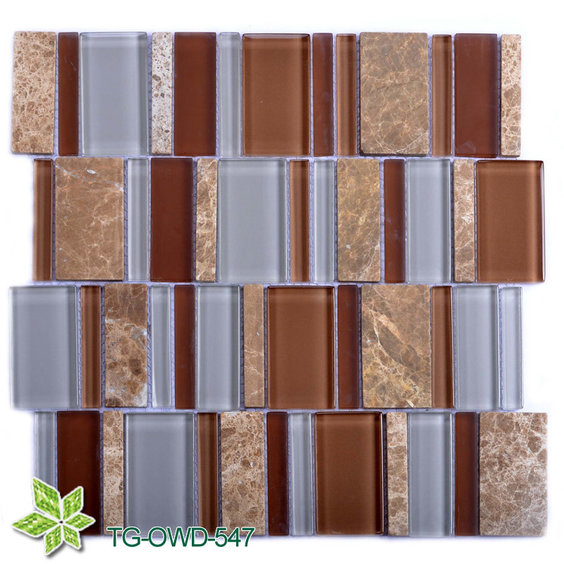 Brown Glass Mosaic Tile (TG-OWD-547)