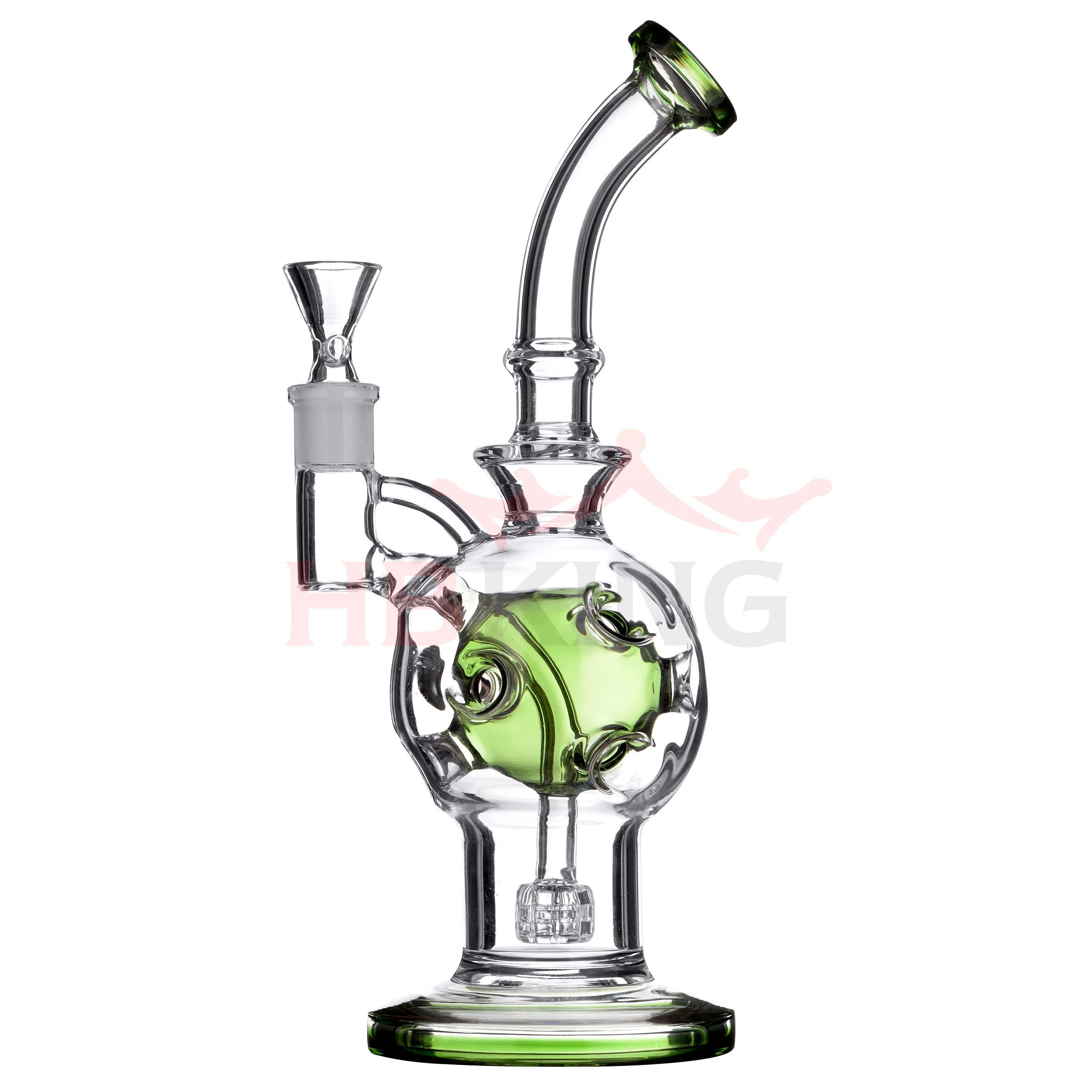 Hollow Honeycomb Base Beaker Percolator Faberge Egg Rig Skull Shape Glass Smoking Water Pipe