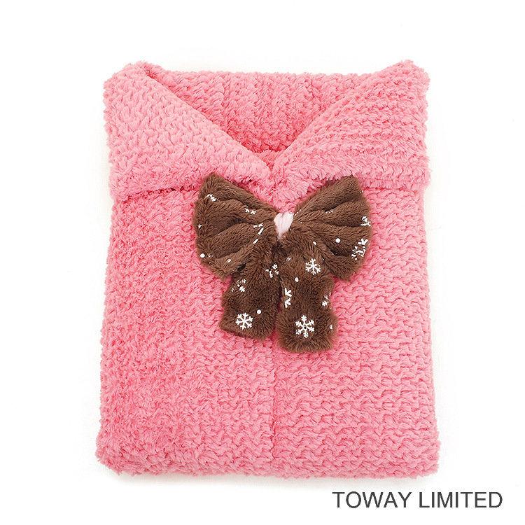 Snowflake Bowtie Dog Mattress Cushion Coral Fleece Pet Sleeping Beds