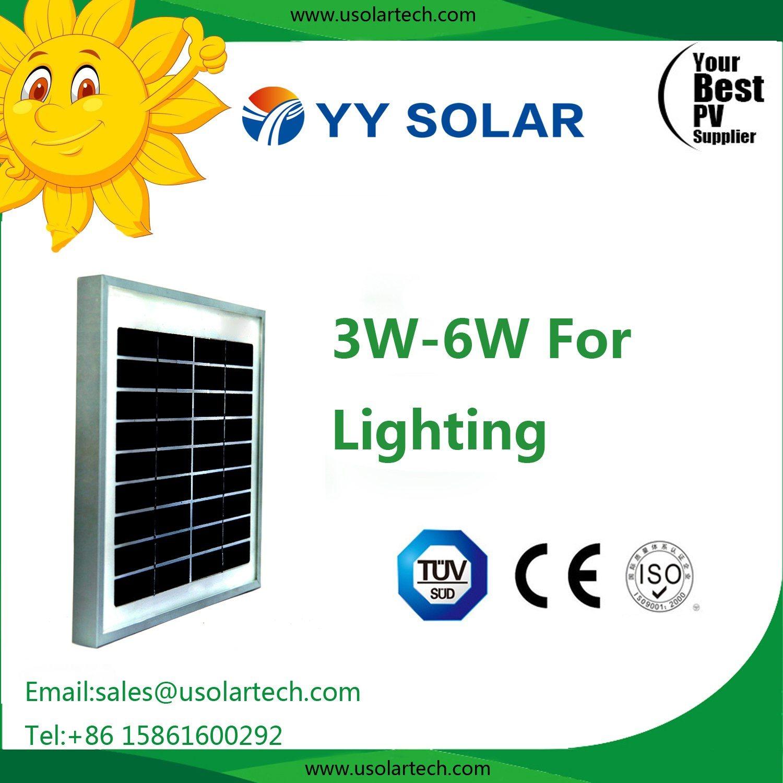 3W 5W 6W 10W Reliable Solar Panel for Pico Lighting