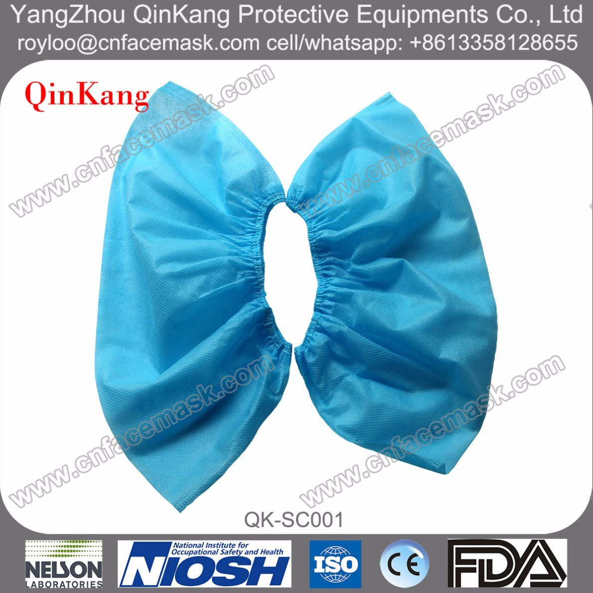 Disposable Non-Woven Elastic Shoe Covers for Hospital