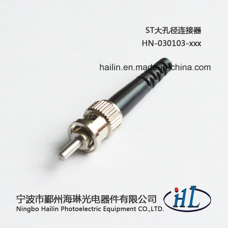 St Fiber Optic Connectors with Stainless Steel Ferrule 3.0mm Boot