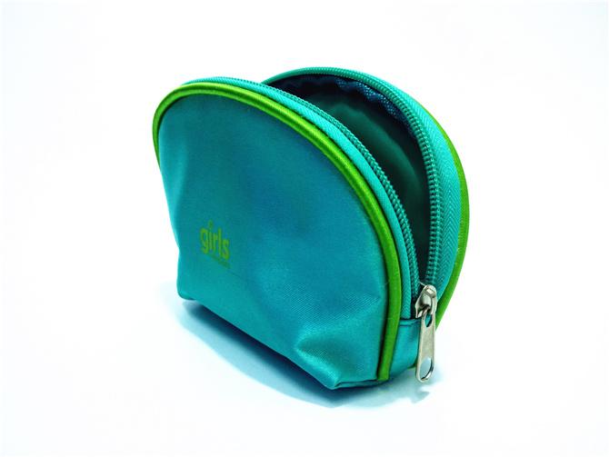 Microfiber Semicircular Coin Purse Makeup Bag