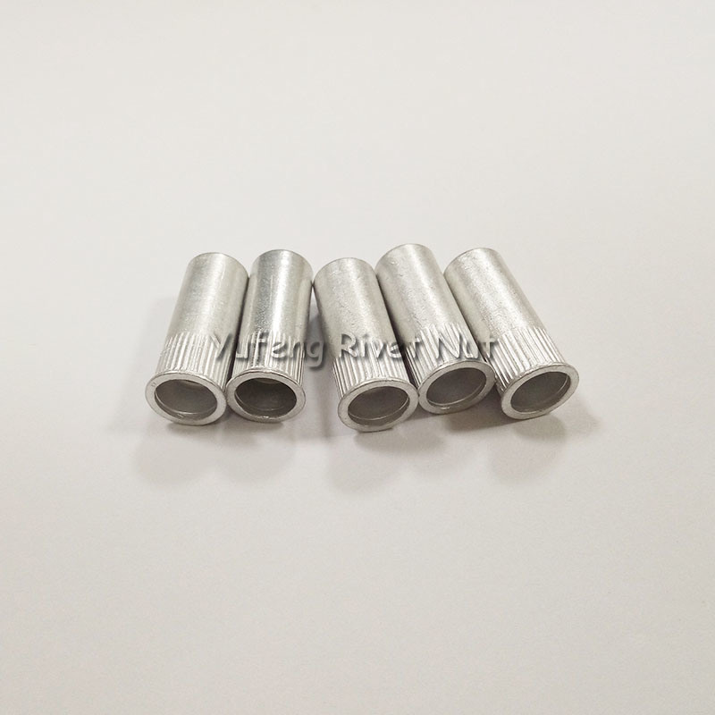 Aluminum Small Head Knurled Body Rivet Nut with Closed End