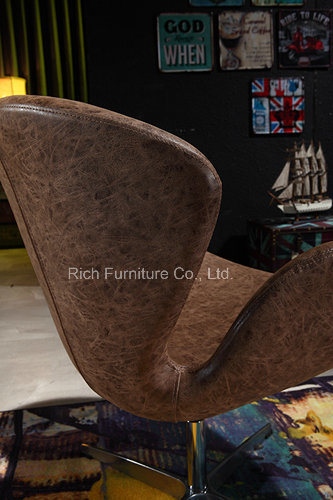 Designer Hot Sale Leisure Metal Swivel Swan Chair