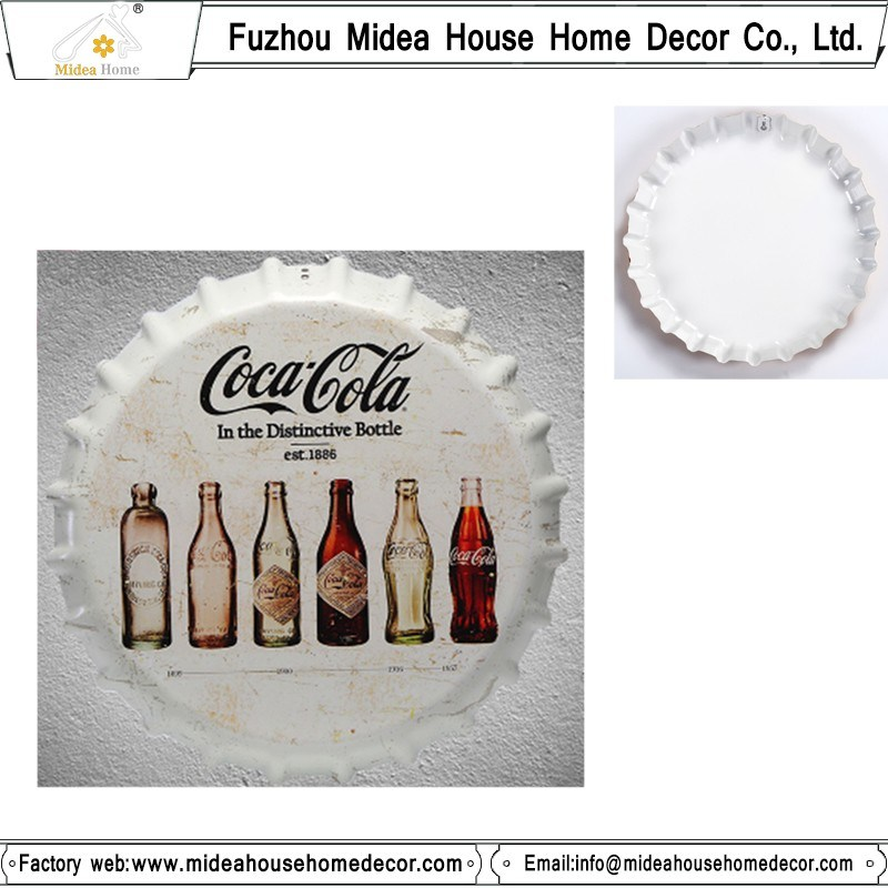 China Factory Custom Tin Sign Metal Logo Decoration Metal Wall Arts