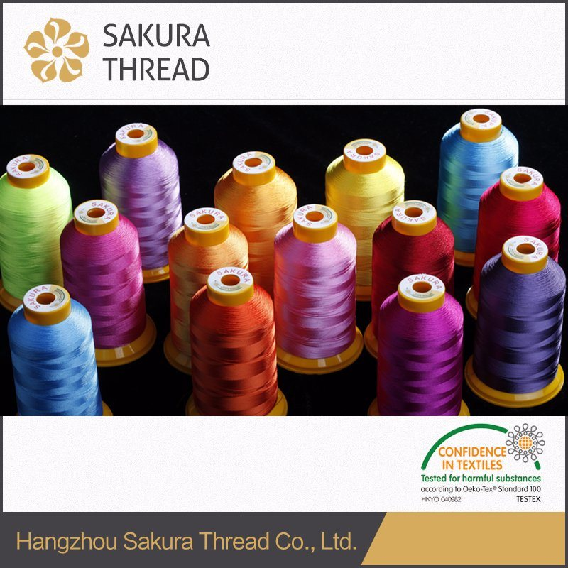 100% High Tenacity 150d Viscose Monofilament Embroidery Thread