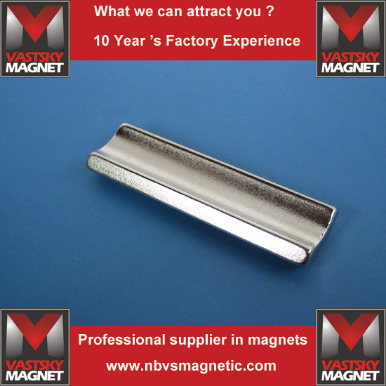 Power Steering Motor Use N38sh Arc Segment Neodymium Magnet