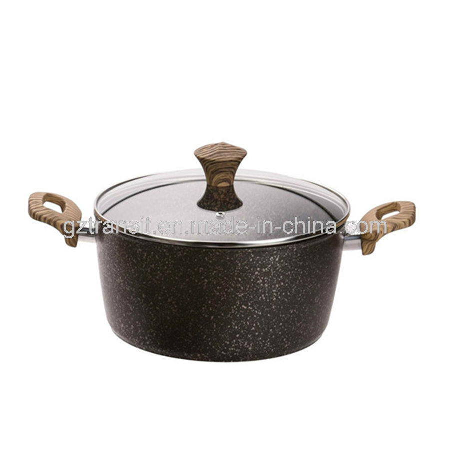 Forged Aluminum Pots and Pans with Wood-Look Handles