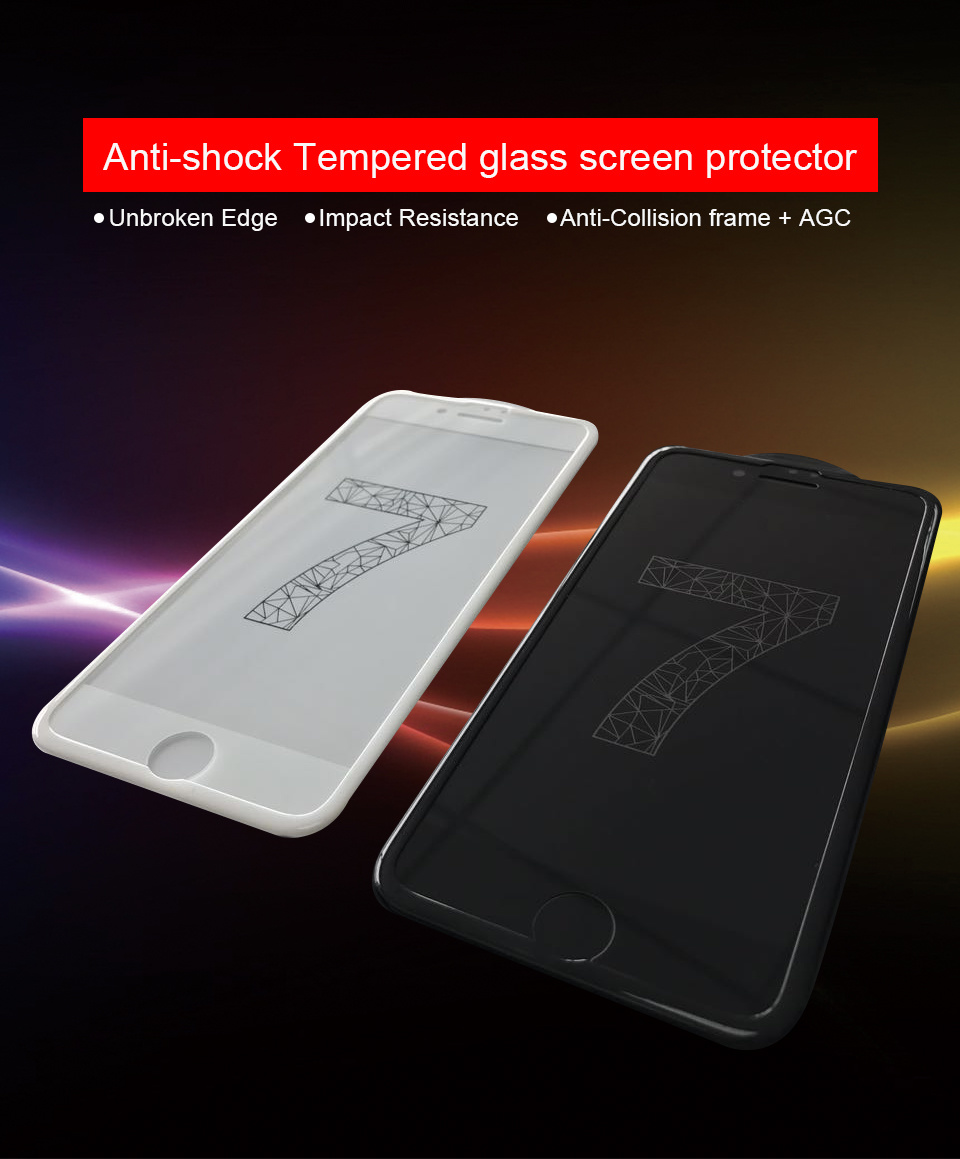 Anti-Shock Tempered Glass Screen Protector for iPhone 7/7 Plus