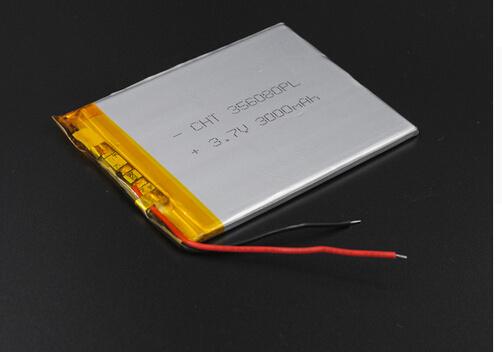 3.5X60X80mm 3.7V 3000mAh Polymer Li-ion Battery for Bluetooth Notebook