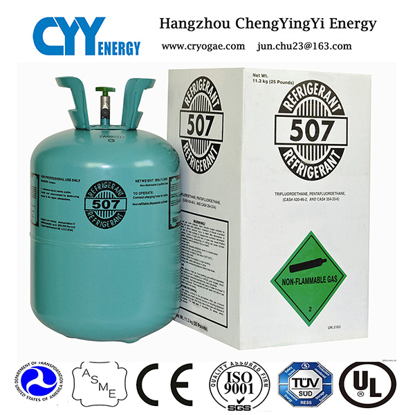 High Purity Mixed Refrigerant Gas of R507 for Air Conditioner