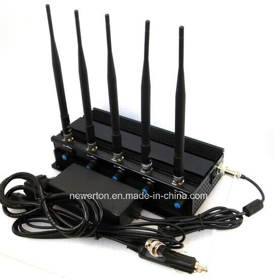 5 Antennas Desktop Mobile Phone Signal Jammer GSM Jammer 3G 4G Jammer
